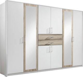 ORMAR ZA ODEĆU - Boja aluminijuma/Bela, Dizajnerski, Plastika/Staklo (270/210/58cm) - Hom`in