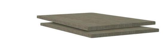 Einlegebodenset Unit - Braun, MODERN, Holzwerkstoff (44,5/1,8/54,4cm) - Ombra
