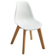 KINDERSTUHL Buche massiv Weiß, Buchefarben  - Buchefarben/Weiß, Design, Holz/Kunststoff (30,5/57/36cm) - Carryhome