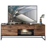 TV-ELEMENT 175/62/48 cm  - Eichefarben/Anthrazit, MODERN, Holzwerkstoff/Metall (175/62/48cm) - Hom`in