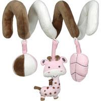 Babyschalenmobile - Braun/Rosa, Basics, Textil (17cm) - My Baby Lou