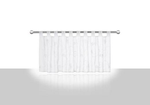 KURZGARDINE   148/48 cm - Weiß, Basics, Textil (148/48cm) - ESPOSA