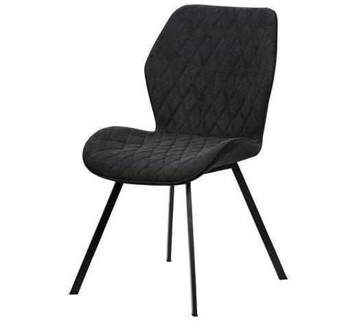 ŽIDLE, hnědá, černá - černá/hnědá, Moderní, kov/textil (44/90/51cm)