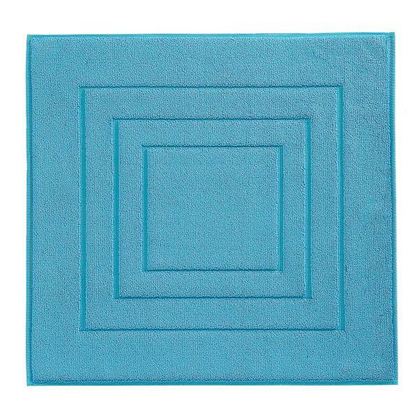BADEMATTE  Türkis  60/60 cm - Türkis, Basics, Textil (60/60cm) - VOSSEN