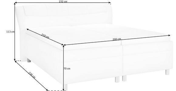 POLSTERBETT 200/210 cm  in Schwarz, Weiß  - Schwarz/Weiß, KONVENTIONELL, Textil (200/210cm) - Esposa