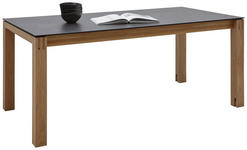 ESSTISCH in Holz, Kunststoff 180(280)/90/75 cm   - Eichefarben/Graphitfarben, Design, Holz/Kunststoff (180(280)/90/75cm) - Dieter Knoll