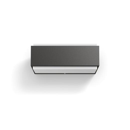 LED-Außenleuchte Hue Anthrazit, Weiß - Anthrazit/Weiß, Design, Kunststoff/Metall (20,3/7,6/9,3cm) - Philips