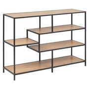 REGAL 114/78/35 cm črna, hrast - črna/hrast, Trend, kovina/leseni material (114/78/35cm) - Carryhome