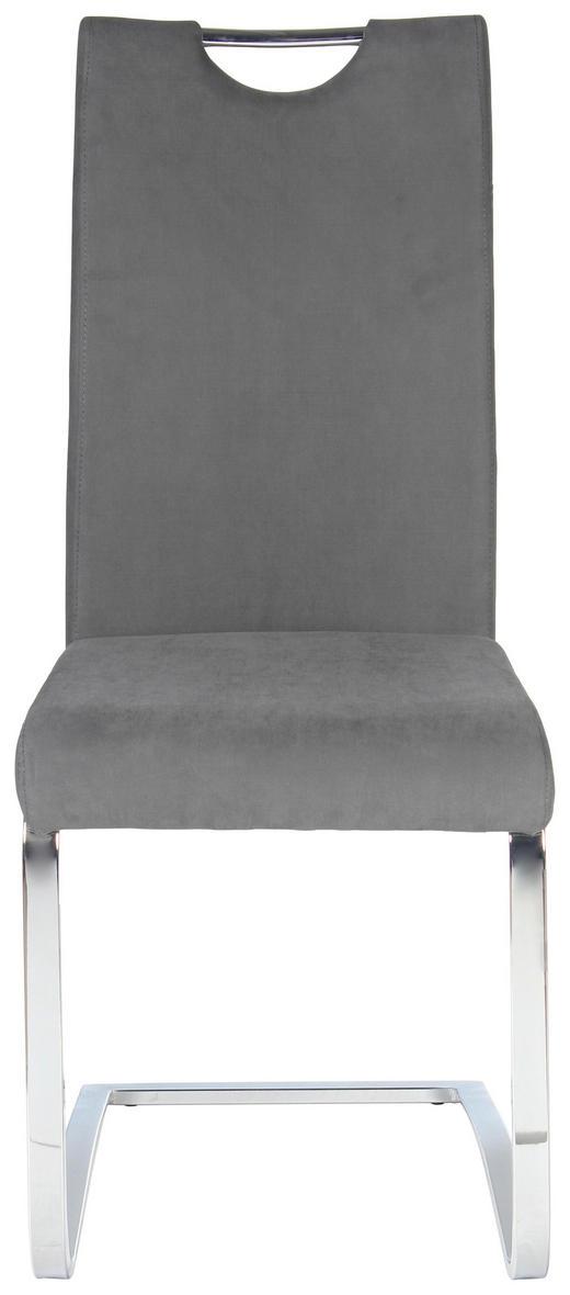 SCHWINGSTUHL Webstoff Chromfarben, Grau - Chromfarben/Grau, Design, Textil/Metall (43/100/57cm) - Carryhome