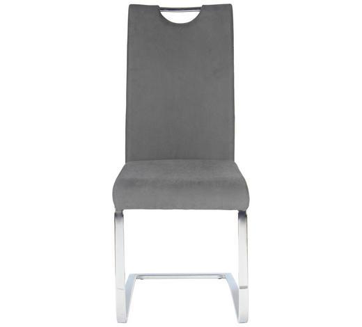 SCHWINGSTUHL Webstoff Grau, Chromfarben  - Chromfarben/Grau, Design, Textil/Metall (43/100/57cm) - Carryhome