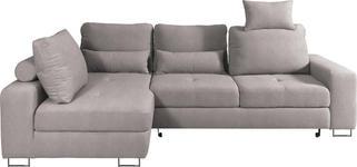 WOHNLANDSCHAFT in Beige Textil - Beige, Design, Textil/Metall (188/260cm) - Hom`in