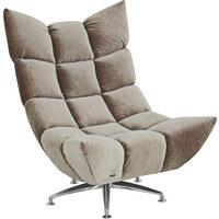 SESSEL in Textil Grau - Alufarben/Grau, Trend, Textil/Metall (87/115/129cm) - Bretz