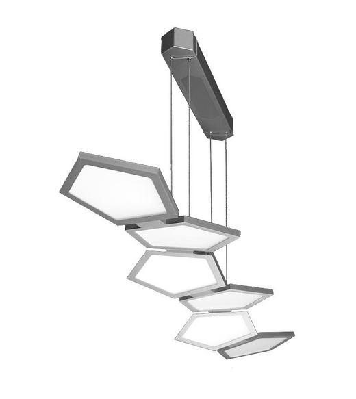 LED-HÄNGELEUCHTE - Opal, Design, Glas/Metall (136/33/5cm)