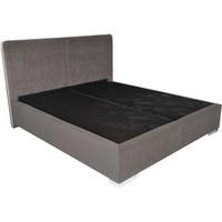 POSTEL BOXSPRING, 180 cm  x 200 cm, textil, béžová, hnědá - barvy stříbra/hnědá, Basics, kov/textil (180/200cm) - Blanar
