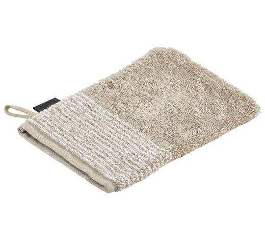 WASCHHANDSCHUH  Sandfarben   - Sandfarben, Design, Textil (16/22cm) - Cawoe