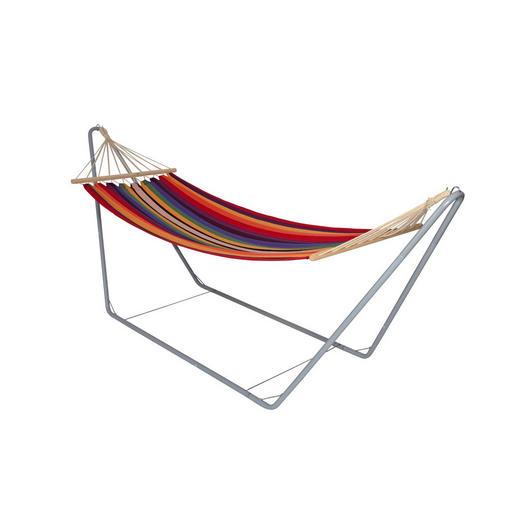 HÄNGEMATTE Mischgewebe - Weiß, Trend, Textil/Metall (300/80/120cm)