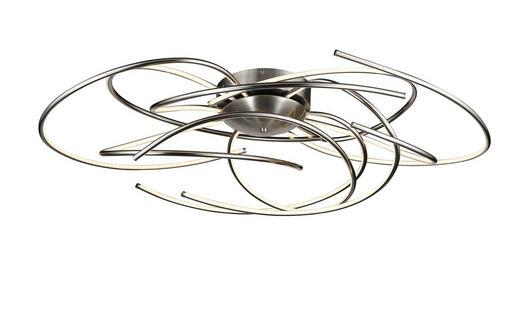LED-DECKENLEUCHTE - Nickelfarben, Design, Kunststoff/Metall (102,0/26,0/62,0cm)