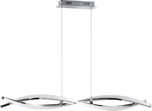 LED-HÄNGELEUCHTE - Chromfarben, Design, Kunststoff/Metall (100,5/150/15cm)