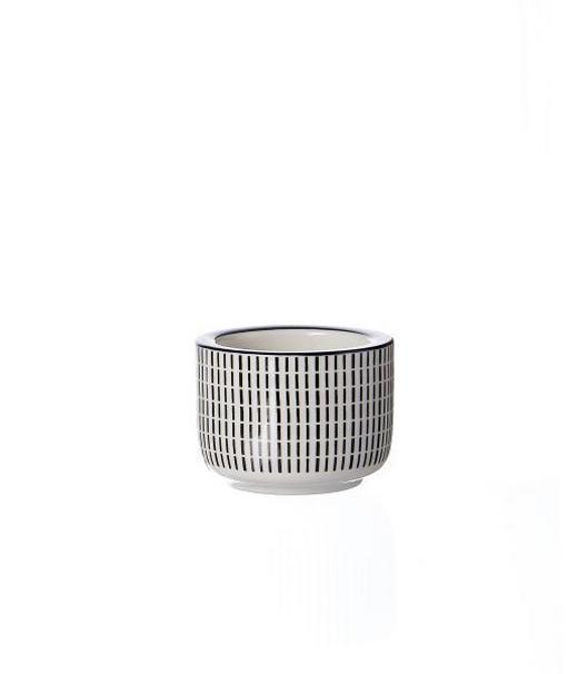 TEELICHTHALTER - Schwarz/Weiß, Basics, Keramik (6/4/cm) - Ritzenhoff Breker
