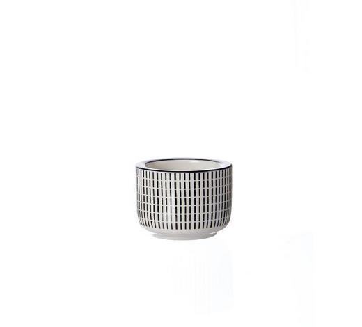 TEELICHTHALTER - Schwarz/Weiß, Basics, Keramik (6/4cm) - Ritzenhoff Breker