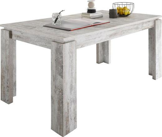 ESSTISCH rechteckig Pinienfarben, Weiß - Weiß/Pinienfarben, Design, Holzwerkstoff (160(200)/90/77cm) - Carryhome