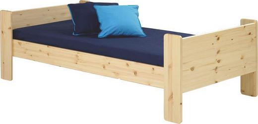 BETT Kiefer massiv 90/200 cm - Naturfarben/Kieferfarben, Design, Holz (90/200cm) - Carryhome