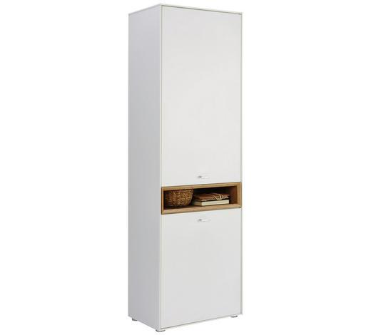 GARDEROBENSCHRANK 62/200/35 cm - Eichefarben/Silberfarben, Design, Holzwerkstoff/Kunststoff (62/200/35cm) - Hom`in