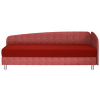 LIEGE in Textil Rot - Chromfarben/Rot, KONVENTIONELL, Textil/Metall (204/75/94cm) - Joka