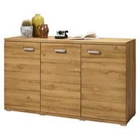 SIDEBOARD foliert Eichefarben  - Eichefarben/Alufarben, Design, Holzwerkstoff/Kunststoff (150/88,4/43,6cm) - SetOne by Musterring