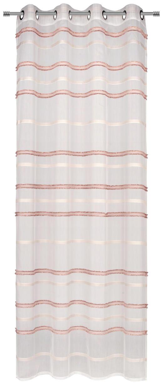 ÖSENSCHAL  transparent  140/245 cm - Rosa, Trend, Textil (140/245cm) - Esposa