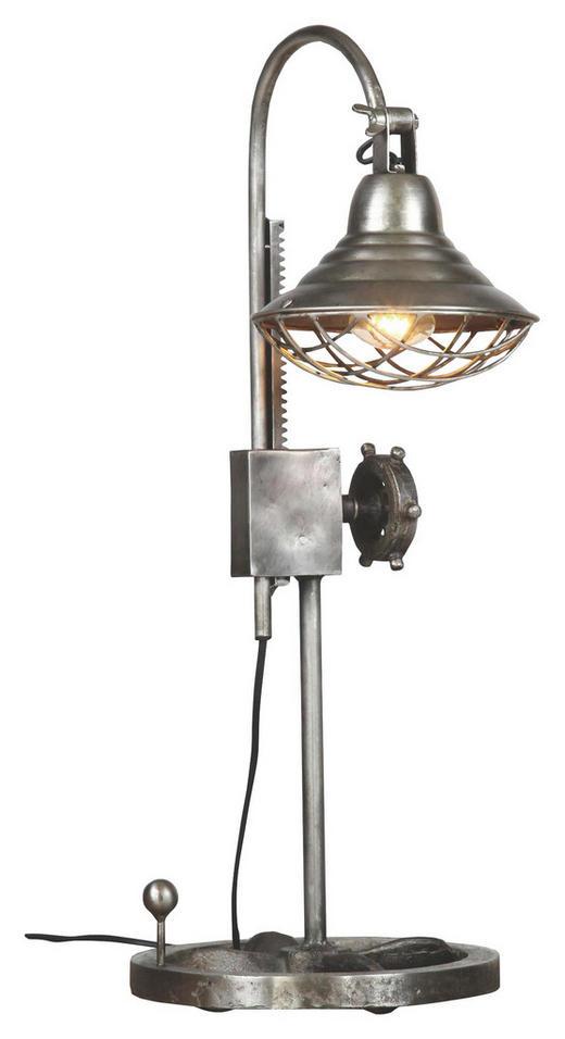 TISCHLEUCHTE - Zinkfarben, Design, Metall (27/55-69cm)