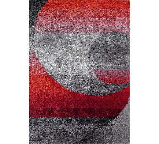 HOCHFLORTEPPICH - Rot/Grau, KONVENTIONELL, Textil (130/190cm) - Novel