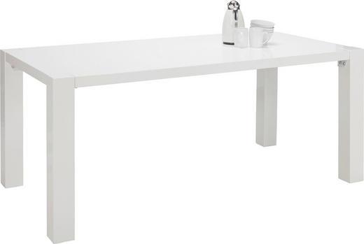 ESSTISCH IN HOCHGLANZ WEIß rechteckig Weiß - Weiß, Design, Holzwerkstoff (180/90/76cm)