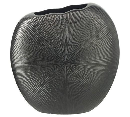 VASE 22 cm - Schwarz, Design, Metall (23/9/22cm) - Ambia Home