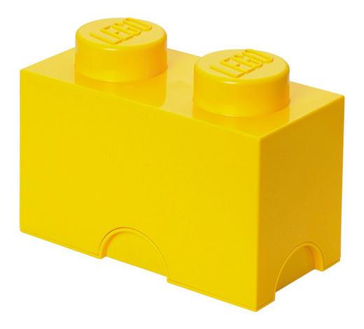 AUFBEWAHRUNGSBOX 25/12,5/18 cm - Gelb, Trend, Kunststoff (25/12,5/18cm) - Lego