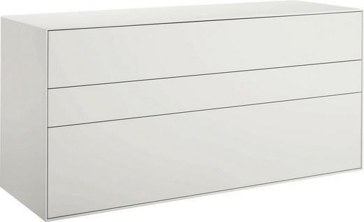 LOWBOARD lackiert Weiß - Schwarz/Weiß, Design (128/64/45cm) - Hülsta - Now