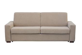POHOVKA, béžová, textil, - béžová, Konvenční, dřevo/textil (215/88/98cm) - Venda