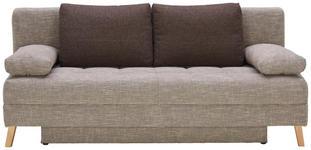 SCHLAFSOFA in Textil Braun, Beige  - Beige/Naturfarben, KONVENTIONELL, Holz/Textil (195/90/90cm) - Cantus