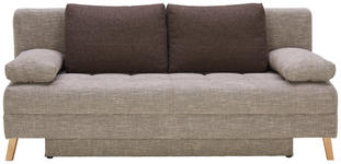 SCHLAFSOFA in Textil Beige  - Beige/Naturfarben, MODERN, Holz/Textil (195/90/90cm) - Cantus