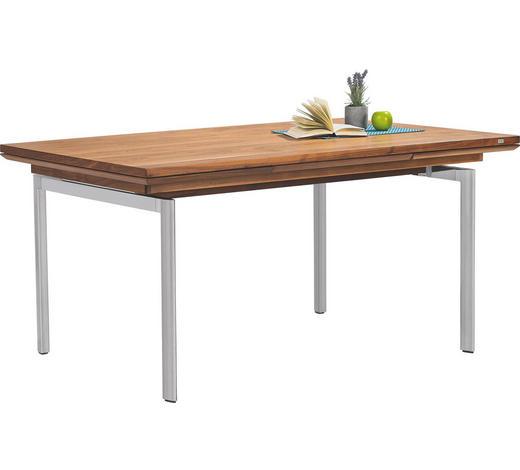 ESSTISCH in Holz, Metall 160(210)/95/77 cm - Nussbaumfarben, Design, Holz/Metall (160(210)/95/77cm) - Joop!