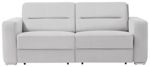 SCHLAFSOFA in Textil Weiß - Weiß, KONVENTIONELL, Textil/Metall (202/86/92cm) - Sedda