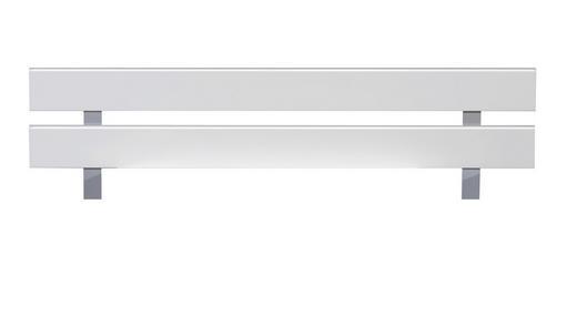 KOPFTEIL  141/41 cm Alufarben, Weiß - Alufarben/Weiß, Design (141/41cm) - Xora
