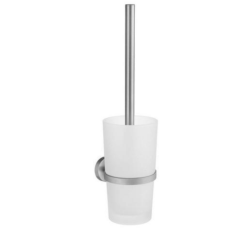 WC-BÜRSTENGARNITUR in Metall - Basics, Glas/Kunststoff (38cm)