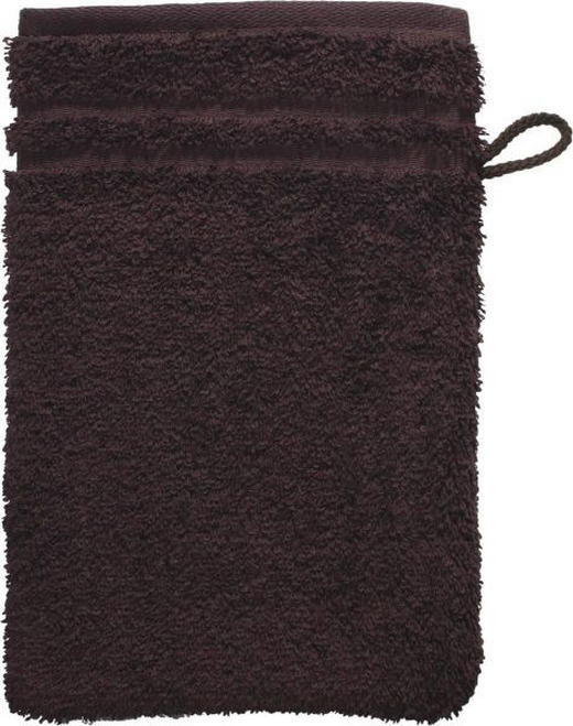 WASCHHANDSCHUH - Dunkelbraun, Basics, Textil (22/16cm) - VOSSEN