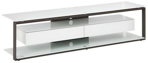 TV-RACK Glas, Metall Anthrazit, Weiß - Anthrazit/Weiß, KONVENTIONELL, Glas/Metall (170/42/40cm)
