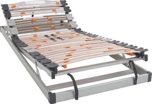 LATTENROST  90/200 cm  Buche Echtholz - Alufarben, Basics, Holz (90/200cm) - Diamona