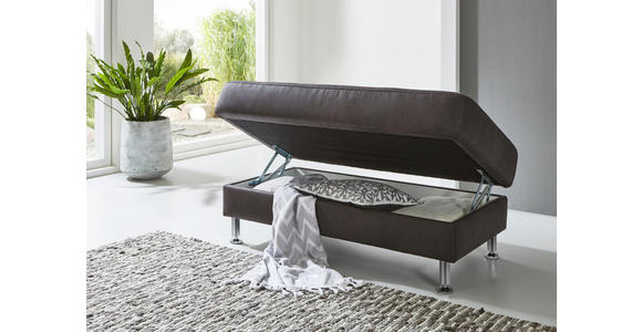 WOHNLANDSCHAFT in Textil Anthrazit  - Anthrazit/Alufarben, Design, Textil/Metall (242/275cm) - Dieter Knoll