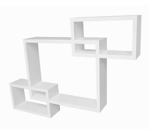 STENSKI REGAL 40/27/32/16/10 cm bela  - bela, Design, leseni material (40/27/32/16/10cm) - Boxxx