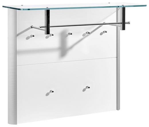 GARDEROBENPANEEL - Alufarben/Weiß, Design, Glas/Holzwerkstoff (96/78/33cm) - Moderano