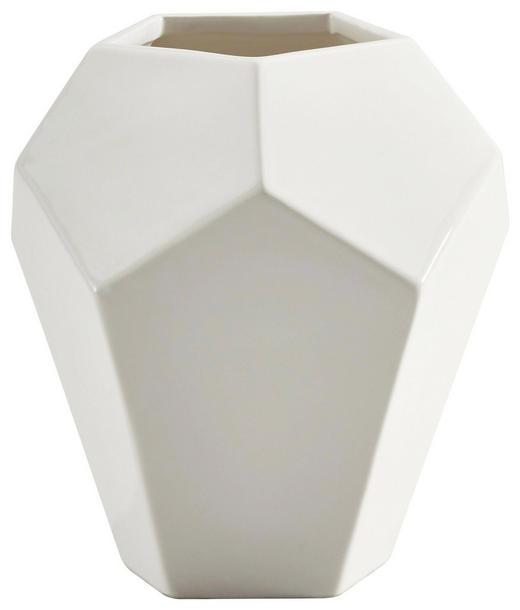 VASE 18 cm - Weiß, Basics, Keramik (16,5/18/16cm) - Ambia Home